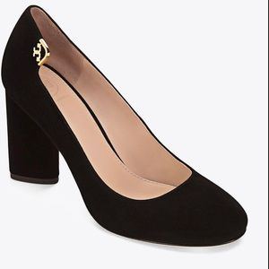 Tory Burch Black Suede Elizabeth Pumps